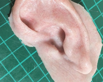 Left silicone severed ear