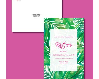 Printable Palm Beach Birthday Invitation