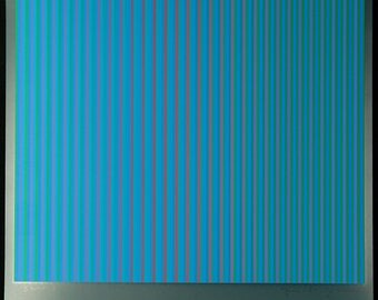 "Op Art. ""Serie A-3"", 1981. Serigraph by Guenter SCHAREIN"