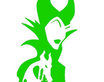 Maleficent with Dragon Vinyl Decal | Disney's Sleeping Beauty Decal | Disney Villain | Yeti Cup | Car Window Sticker | Laptop Decal |