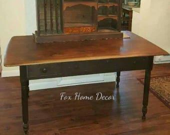 Primitive table/desk with hutch