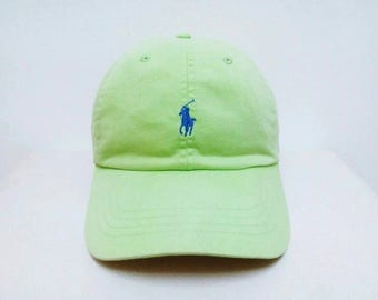 Hot Sale!!! Rare Vintage 90s POLO RALPH LAUREN Small Pony Logo Leather Strap Hip Hop Skate Swag Cap One Size (Free Size)