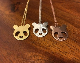 Panda - Panda Necklace - Panda Jewelry - Panda Charm - Gold Panda - Silver Panda - Rose Gold Panda - Bear Necklace - Bear Jewelry - Bear