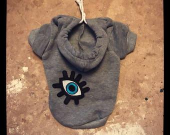 The Eye pet hoodie. Dog/cat/puppy sweater jumper. Uk seller.