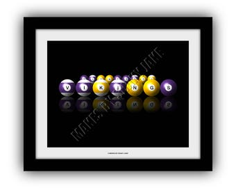 Minnesota Vikings Billiards Print