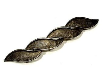 VINTAGE: 1970's - Mimi Di N Ornate Thin Belt Buckle - Silver Metal Buckle - SKU 19-B5-00007337