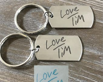 Actual Handwriting Keychain | Personalized Keychain |  Handwritten Keychain | Memorial Gift | Customized Keychain | Personalized Gift | Loss