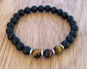 Mens bracelet, Mens, Men bracelet, Gift for men, Men's bracelet, Boyfriend gift, Mens bracelet, Mens Lava bracelet, Tiger eye bracelet men