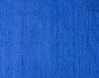 10% Off On Blue Dupion Pure Silk Fabric