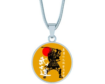 Samurai Fan Gift -Samurai Warrior  Necklace