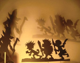 Monsters and animals - shadow play set fairy tale forest