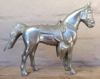 Cast pot metal carnival horse vintage