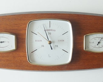 Mid Century weather station, teak. Made by Lufft, Germany