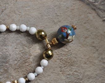 Cloisonne and Glass beads