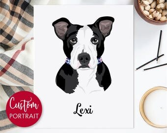Custom dog illustration. Pet portrait. Custom pet digital art. Bridesmaids gifts. Digital file only - Draw me, please.