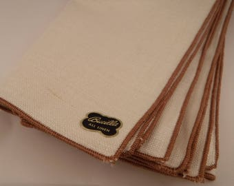 Bucilla All Linen Napkins- set of 4 in Natural Color