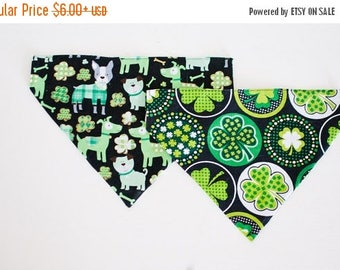 SALE St.Patrick's Day Bandana-Dog Bandana-Green Dog Bandana-Shamrock Dog Bandana-Holiday Dog Bandana-Four Leaf Clover-Clover Dog Bandana