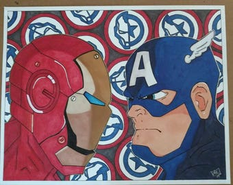Civil War Staredown 11x14 Print