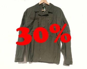 AUSTRIAN MILITARY JACKET / / vintage clothing / / unisex / / oversized / / green / / military green