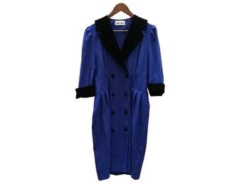 Vintage dress//vintage clothing/1970s/1980s/gift for woman/blue/70s/medium/dress for women/vintage dress/Klein