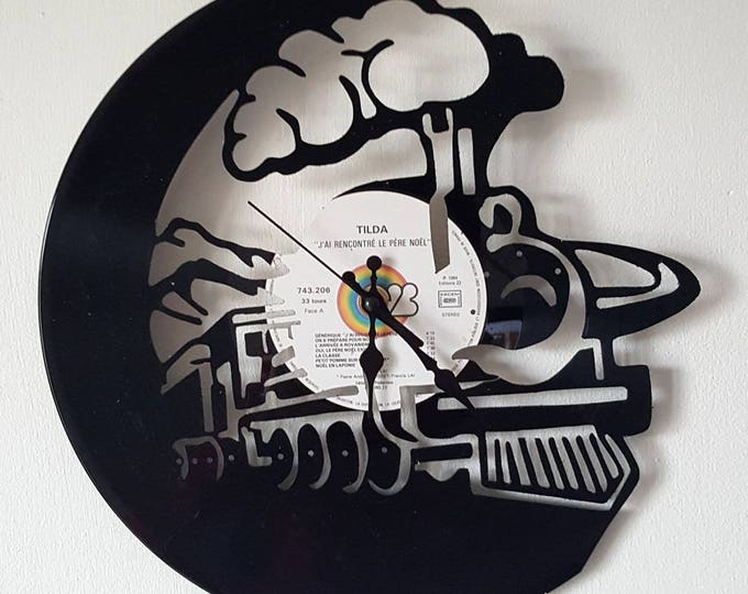 Vinyl 33 clock towers locomotive theme