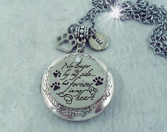 No Longer By My Side But Forever In My Heart Pet Memorial Locket, Pet Loss, Cat Memoial, Dog Memorial, Keychain Option Available
