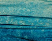 Batik 100% Cotton fabric by Half Yard increments - Selvage to Selvage light to dark Blue Topaz ombre - by Benartex Gradations Balis 3784-84