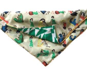 dog bandana, dog scarf, cat bandana, cat green  scarf, dog hipster  scarf