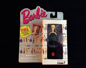 1995 Barbie Doll collectible keychain - 90s vintage Mattel toys - blonde Solo in the Spotlight Barbie