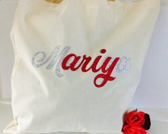 Personalised tote wedding gift bridesmaid gift wedding favours