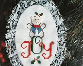 CHRISTMASINJULY Designs for the Needle Lace Ornament Joy Bear