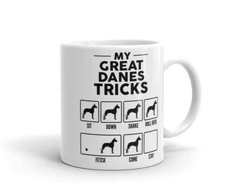 My Great Danes Tricks Mug - Funny Cute Great Dane Gift - Dog Lover - Coffee Mug