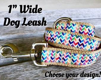 "Design A Dog Leash, Choose Your Style Dog Leash, Nylon Webbing 1"" Wide Dog Lead, Gorgeous Dog Lead, Matching Leash and Dog Collar"