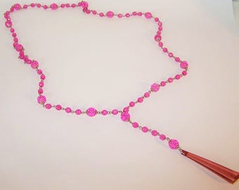 Handmade Beaded Necklace Long Rosary Necklace