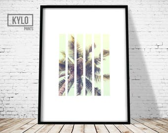 Tropical Print, Modern Photography Print, Tropical Art, Abstract Poster, Tropical Beach Print, Beach Art, Summer Print, Coconut tree Print