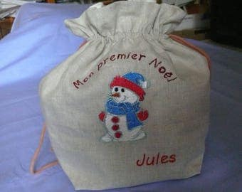 Personalized snow man pouch