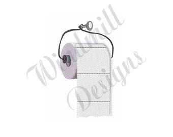 Toilet Paper Roll - Machine Embroidery Design