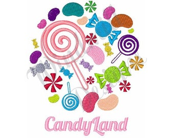 Candy Land - Machine Embroidery Design