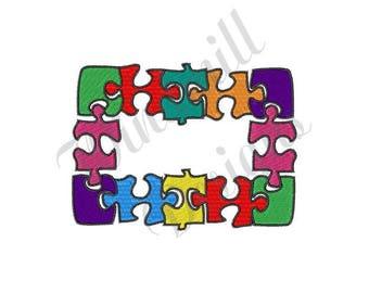 Autism Puzzle Pieces - Machine Embroidery Design