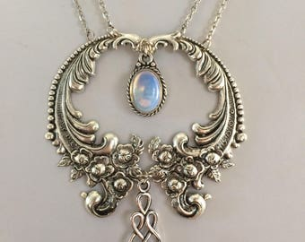 Silver opalite necklace