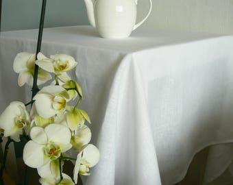 Linen Table Cloth, Natural Linen Tablecloth, Christmas Linen Table Cloth,  Handmade Homeware,