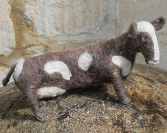 One of a Kind Needle Felted Cow