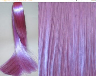 25% OFF SALE LILAC Saran Doll Hair for Custom Ooak/Rerooting