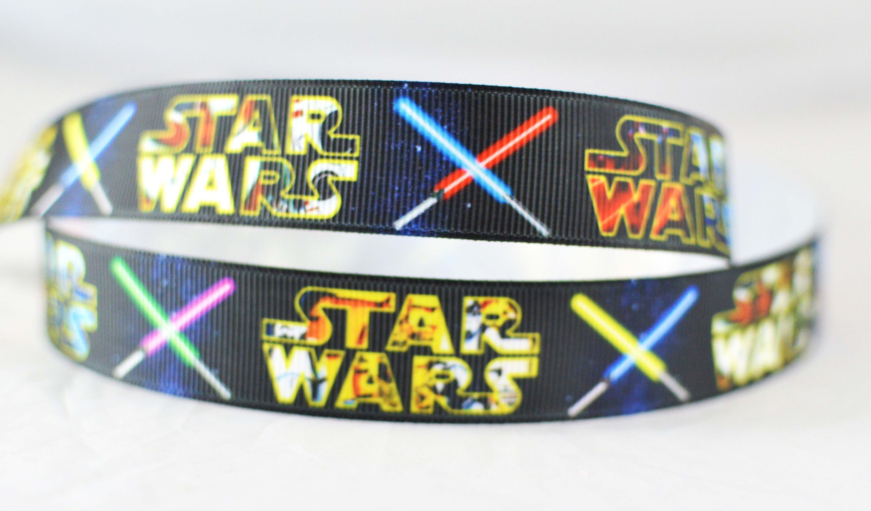 star wars movie light saber character inspired printed grosgrain, Powerpoint templates
