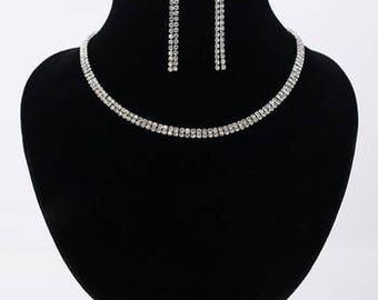 Delicate Bridal / Wedding Earrings & Necklace Set