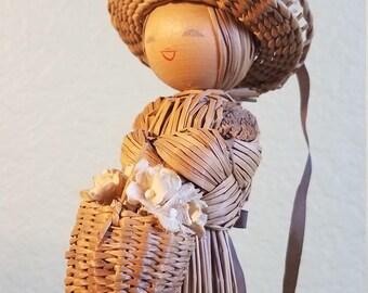 Vintage Korean Straw Doll