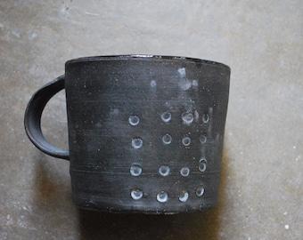 Black Dotted Mug
