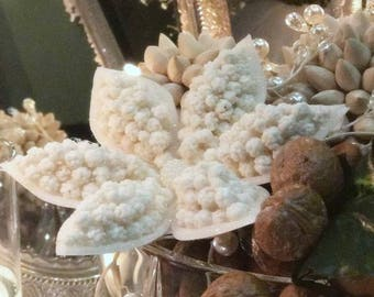 Sofreh Aghd Nogl Flower white with Glitter for Persian Wedding Aroosi
