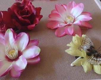 Big Handmade Flower Hair Accessories