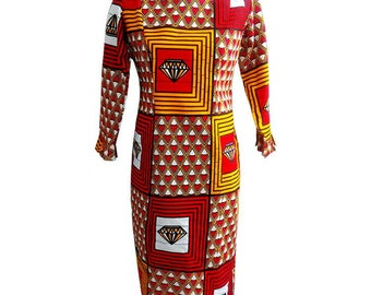 African clothing for women, African print dress, ankara dress, pencil dress, wax print ( Bethy dress)